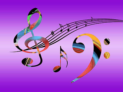 Music Digital Art - Musical Fantasy by Gill Billington