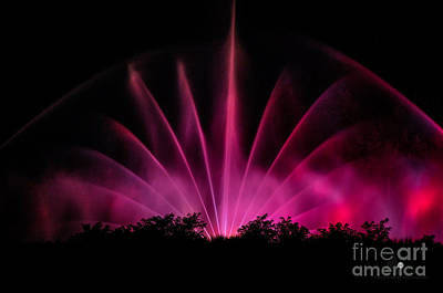 Photograph - Musical Fountain by Ronald Grogan