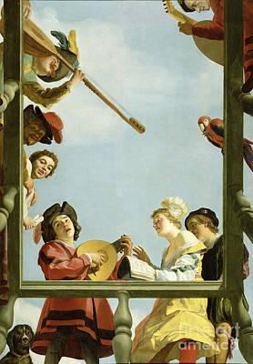 Gerrit Van Honthorst Photograph - Musical Group On A Balcony 1622 by Getty Research Institute
