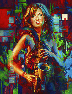 Musical Muse Candy Dulfer Original by Yury Fomichev
