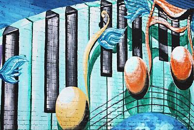 Musical Notes In Deep Ellum Art Print by Lorri Crossno