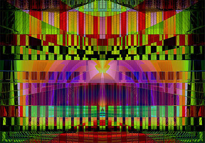 Digital Art - Musical Stage - Vibrations by Gillian Owen
