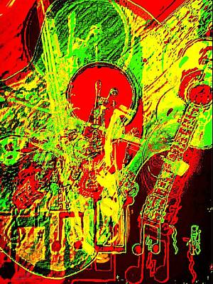 Digital Altered Drawing - Musically Inclined by Larry E Lamb