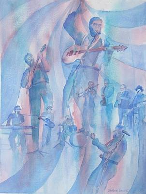 Painting - Musician And His Band by Debbie Lewis
