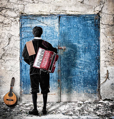 Musician At The Door Art Print by Nermin Smajic