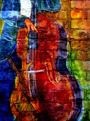 Musicians Royalty Free Images - Musician Bass and Brick Royalty-Free Image by Anita Burgermeister
