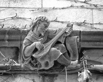 Lutenist Photograph - Musician Gargoyle No.2 2009 by Joseph Duba
