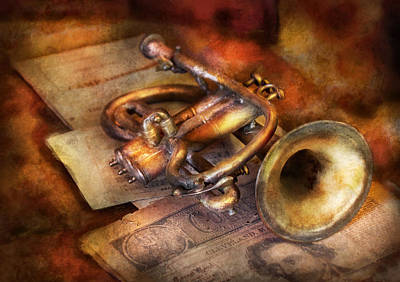 Musician - Horn - Toot My Horn Art Print by Mike Savad