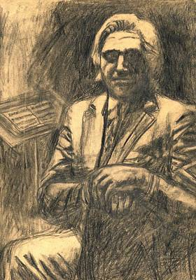 Drawing - Musician by Kendall Kessler