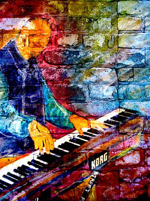 Digital Art - Musician Keyboard And Brick by Anita Burgermeister