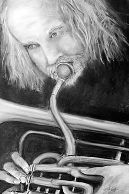 Drawing - Musician by Loretta Luglio