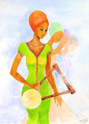 Painting - Musician by Mahlet