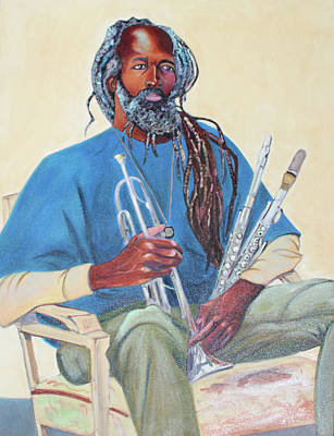 Painting - Musician Painter Athlete And Old Soul by Asha Carolyn Young