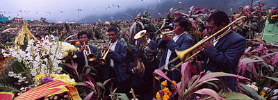 Musicians Celebrating All Saints Day By Art Print by Panoramic Images