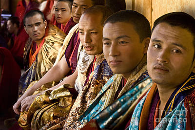Art Print featuring the digital art Musicians From Bhutan by Angelika Drake