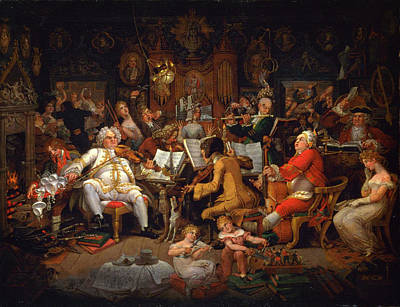 Musicians Royalty Free Images - Musicians of the Old School Royalty-Free Image by Celestial Images