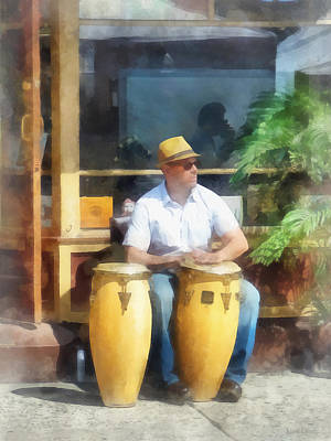 Photograph - Musicians - Playing Bongo Drums by Susan Savad