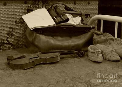 Photograph - Travel Bag On A Bed by Donna Cavanaugh