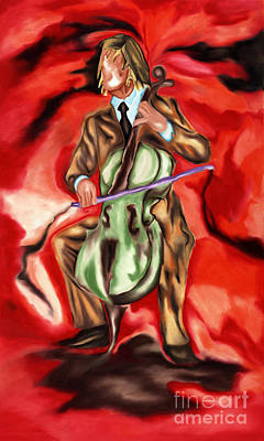 Chello Painting - Musico by Raul Rodriguez