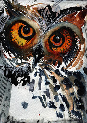 Painting - Musicowl by Laurel Bahe
