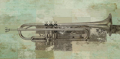 Trumpet Digital Art - Musikalis - J0730770140 by Variance Collections