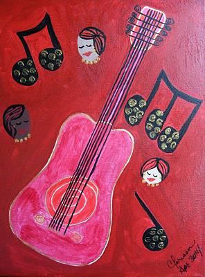 Painting - Musique Rouge by Clarissa Burton