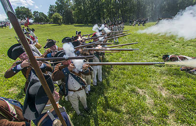 Manalapan Photograph - Musket Volley by Bruce Neumann