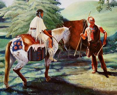 Art Print featuring the painting Muskogee Traditions by Pat Burns