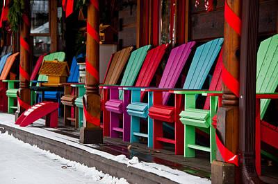 Photograph - Muskoka Chairs by Patrick Boening