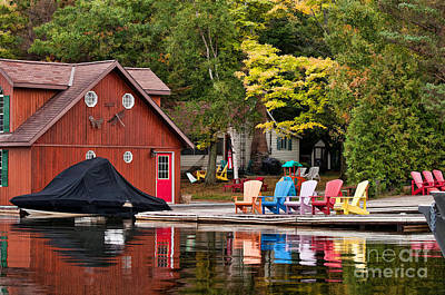 Photograph - Muskoka Colours by Les Palenik