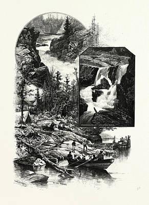 Human Skeleton Drawing - Muskoka Scenery Giants Causeway Minnehana Falls by Canadian School