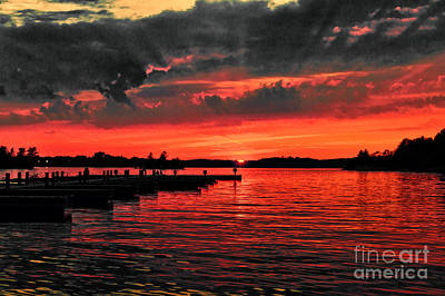 Muskoka Sunset Art Print