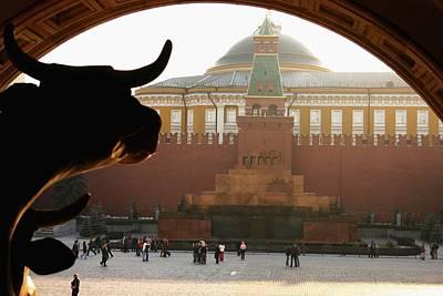 Muscovite Bulls 2 Art Print by Juozas Mazonas