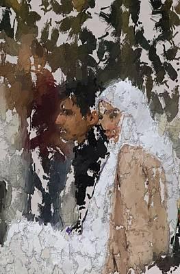 Muslim Couple Art Print by Steve K