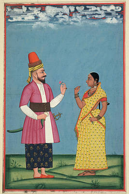 1797 Photograph - Muslim Noble And Wife by British Library