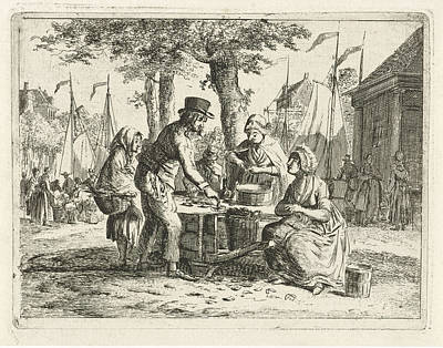 Mussel Sales Women, Christiaan Meijer Art Print by Christiaan Meijer