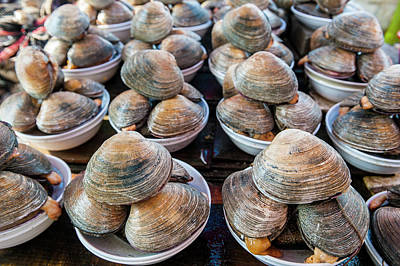 Mussels For Sale At The Fish Market Art Print by Michael Runkel
