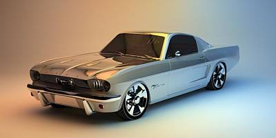Digital Art - Mustang 66 by Louis Ferreira