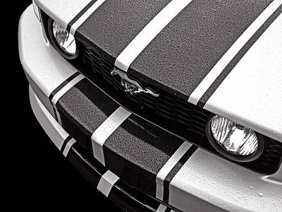 Ford Mustang Racing Photograph - Mustang Abstract In The Rain by Gill Billington