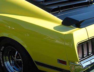 Photograph - Mustang Boss 302 Closeup by Mark Spearman