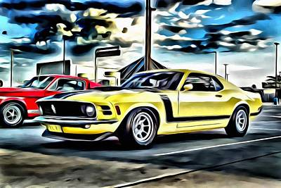 Painting - Mustang Boss 302 by Florian Rodarte