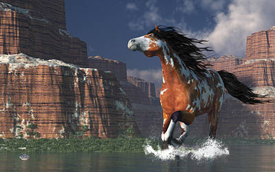 Digital Art - Mustang Canyon by Daniel Eskridge