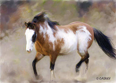 Caskey Wall Art - Painting - Mustang Dust by Bethany Caskey
