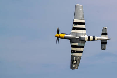 Photograph - Mustang Flyby D-day by Scott Lyons