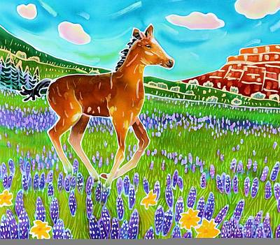 Wild Horse Painting - Mustang Foal by Harriet Peck Taylor