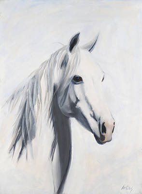 Wild Horse Painting - Mustang Mama by Jack Atkins