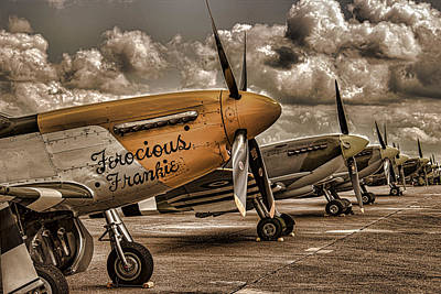Airshow Flight Photograph - Mustang by Martin Newman