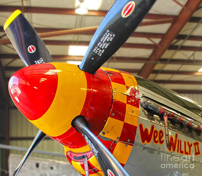Mustang P-51d Wee Willie Art Print by Gregory Dyer