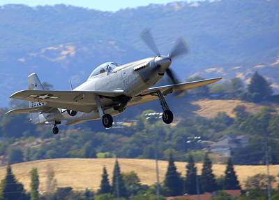Photograph - Mustang P51h Climb Out N551h by John King