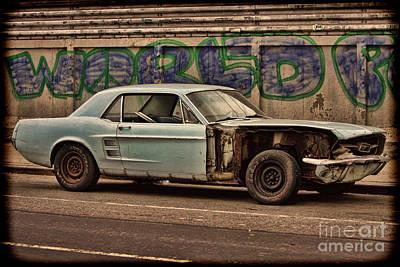 Photograph - Mustang Power by Rick Kuperberg Sr